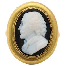 Antique Victorian Cameo Ring of William Shakespeare