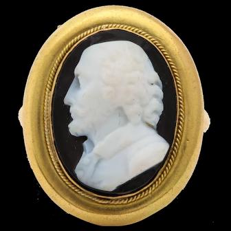 Antique Victorian Cameo Ring of William Shakespeare