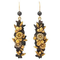 Antique Victorian Shakudo Earrings