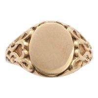 Elegant Edwardian 14 kt Gold Signet Ring