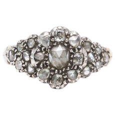 Antique Georgian Diamond Cluster Floral Ring
