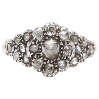 Antique Georgian Diamond Cluster Floral Ring