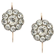 Superlative Georgian Black Dot Paste Earrings