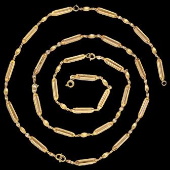 18 kt Gold Victorian Adjustable Chain