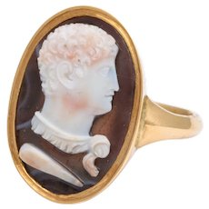 Antique Georgian Unisex Cameo of Herules Ring