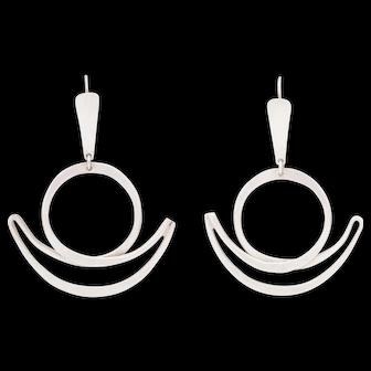 Fabulous Art Smith Silver Chandelier Earrings