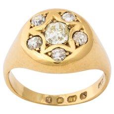 Antique Victorian Cushion Cut Diamond Ring