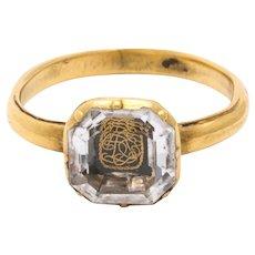 Antique Georgian Stuart Crystal Ring