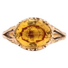 Antique Georgian Gold Topaz Ring