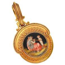 Antique French Fontenay Masterpiece Pendant Locket