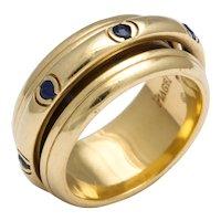 Vintage Piaget Sapphire and 18 Karat Gold