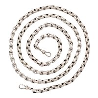 Antique Victorian Long Chain in Sterling Silver