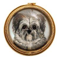 Victorian Terrier Reverse Essex Crystal Intaglio