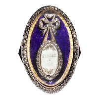 """Antique Georgian Sentimental Ring Requests """"Pensee A Moi"""" Think of Me."""