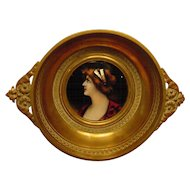 Beautiful Antique French Enamel Bronze Bowl