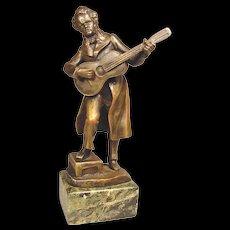Vienna Bronze Classical Musician Signed Titze