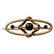 Antique Art Nouveau Sapphire 18K Brooch