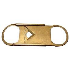 Antique Art Deco 14k Sliding Pocket Cigar Cutter