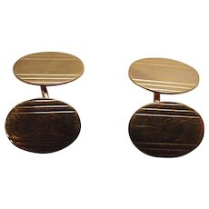 Antique Art Deco Signed & Marked 14k Gold Cufflinks