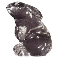 Beautiful Signed Baccarat Crystal Bunny Rabbit