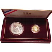 1988 US Mint Olympic Proof Coins Gold & Silver