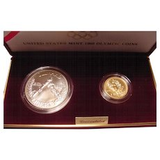 1988 US Mint Olympic Uncirculated Coins Gold & Silver