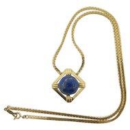 Beautiful 14k Gold Vintage Lapis Necklace