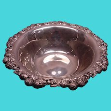 Antique Tiffany & Co Sterling Silver Very Large Clover Fruit Bowl