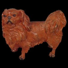 Rare Antique Pekingese Cold Painted Vienna Bronze Dog