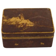 Beautiful Antique Gilt Metal Komei Japanese Signed Box
