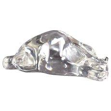 Beautifiul Mint Condtion Steuben Crystal Roman Cat # 8389 Susan Smyly 1979