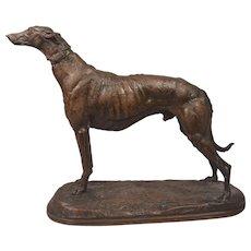 Superb Antique Bronze Greyhound Emmanuel Fremiet (French 1824-1910)