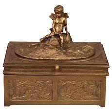 Rarest Antique Vienna Bronze Erotica Bergman Cherub Satyr Nymph Mechanical Box