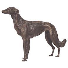Beautifully Sculptured Bronze Borzoi Russian Wolfhound