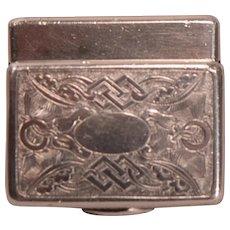Antique Chinese Export Silver Vinaigrette Box