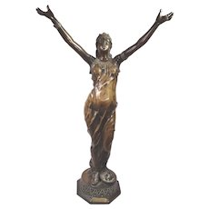 Salambo Orientalist Female Bronze Sculpture Signed J. Garnier (1853-1910 French)