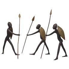 Hagenauer Art Deco Austrian Vienna Bronze African Warrior