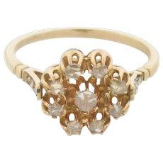 Antique Old Rose Cut Diamonds 18K Gold Ring