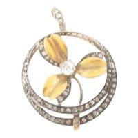 Exquisite Antique 18K Gold Diamonds Pendant