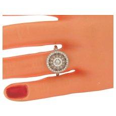 Exquisite Antique Art Nouveau Diamonds & Platinum Ring