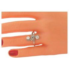 Art Deco .75 Carat Total Weight Diamonds Platinum Designer Made Ring