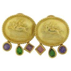 """SeidenGang """"Athena"""" Earrings 18K Stamped GB (c) 18K/Athena"""