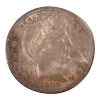 1909 Barber Quarter Nice Ucirculated MS-62 Original Toning