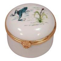 Hand Painted Large Limoges Signed SA Porcelain Limoges France