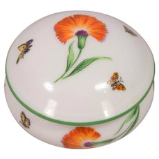 Beautiful Vintage Tiffany & Co. Limoges Porcelain Floral & Butterfly Box