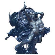 L'Amour Vainqueur Antique Bronze Sculpture Adolphe Itasse 1830-1893