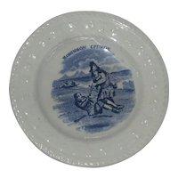 "Staffordshire ""Robinson Crusoe"" ABC  Nursery Plate"