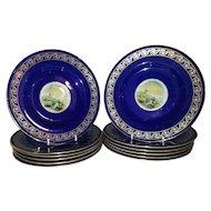 A set of 12 Copeland Spode Dessert Plates made for Davis Collamore