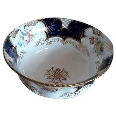 A Blue Coalport Batwing Sugar Bowl