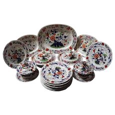 A Part Derby Dinner service by Stevenson and Sharp.